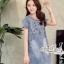 Korean denim embroidered Vintage dress by Aris Code thumbnail 8