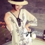 Miami Beach Embroidery Chiffon Dress thumbnail 2