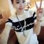 Korea เสื้อยืดแฟชั่น ผู้หญิง T-Shirt คอกลม แขนสั้น (สีขาว)รุ่น 040 (รหัส 2zvOBP4) thumbnail 1