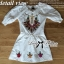 Spring Floral Vivid Embroidered Mini Dress, Korea thumbnail 15