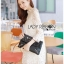 Jessica Sweet Elegant High-Neck Guipure Lace Dress in Off-White L219-75C04 thumbnail 4