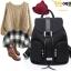 กระเป๋าเป้สไตล์เกาหลี &#x266B ้รุ่นนี้เป็นเป้หนังPU+Polyester thumbnail 6