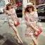 Lady Merry Blooming Print Glittery Mini dress L217-89E01 thumbnail 2