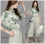 Lady Anna Smart Casual Floral Printed Top and Culottes Set L259-7916 thumbnail 8