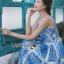 Dolce & Gabbana Italian White & Blue Printed Button-Down Dress L241-69B02 thumbnail 4