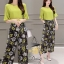 Daisy light green with flower black pants set thumbnail 1