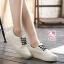 รองเท้าผ้าใบแฟชั่นแพลตฟอร์ม ทำจากผ้าใบสีทูโทนสดใสด้านนอก-ใน thumbnail 11