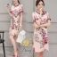 Daisy gucci poly flower oldrose dress thumbnail 1