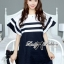 DR-LR-155 Lady Natasha Striped Dress in Navy Style thumbnail 9