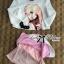 Lady Sarah Sweet Little Girl Printed Embellished Pink Set L139-75C01 thumbnail 7