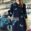 Lady Grace Sweet Feminine Butterfly Embroidered Denim Shirt Dress L215-85C07 thumbnail 3