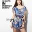 Lady Julia Electric Blue Floral Print Polyester Jumpsuit L127-69E08 thumbnail 1