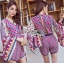 Issue Cassandra Colourful Printed Kimono Playsuit L261-6913 thumbnail 3