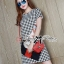 DR-LR-140 Lady Andy Edgy Surreal Print and Embellished Houndstooth Dress thumbnail 2