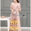 Lady Lydia Casual Feminine Butterfly Printed Set with Chiffon Maxi Outerwear L264-8501 thumbnail 8