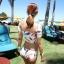 SM-V1-425 ชุดว่ายน้ำ เสื้อแขนสั้น+กางเกงบิกินี่ ลายขนนกสวย สีสันสดใส thumbnail 11