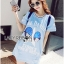 Lady Julie Sporty Style Printed and Sequin Denim Dress L254-75C01 thumbnail 11