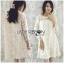 Lady Carolina Sweet Feminine Classic Floral Lace Dress in White L239-85E05 thumbnail 7