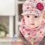 ไซส์ 3-24 เดือน หมวกเด็กเบสบอล พร้อมผ้ากันเปื้อน - สีชมพู