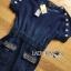 Lady Jeanne Rock Chic Studded Dark Denim Mini Dress L218-85E01 thumbnail 10