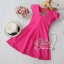 3Colorful Dress with Ribbon Back สีชมพู S140-75C08 thumbnail 3