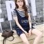 Lady Charlotte Striped Top with Ripped Tank Top and Shorts Set L263-8511 thumbnail 7