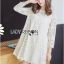 Lady Carolina Sweet Feminine Classic Floral Lace Dress in White L239-85E05 thumbnail 8