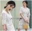Lady Joanne Classy Elegant White Lace Dress with White Leather Belt L260-7907 thumbnail 11