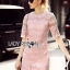 Lady Gabby Sweet Elegant Baby Pink Lace Dress L243-99C01 thumbnail 5