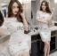 Lady Camille Off-Shoulder Embroidered Lace Body-Con Dress L259-8506 thumbnail 9