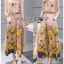 Lady Lydia Casual Feminine Butterfly Printed Set with Chiffon Maxi Outerwear L264-8501 thumbnail 9