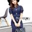 Lady Indigo Puff Sleeve Lace Dress L269-7905 thumbnail 9