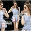 Lady Sophie Sweet Casual Baby Blue Lace Top and Shirts Set L251-89C02 thumbnail 8