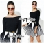 DR-LR-276 Lady Minimal Chic Graphic Striped Dress thumbnail 9