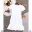 เดรสคอวี ทรงแขนตุ๊กตา งานผ้าซาร่า สีพื้นสุดหรู ดีเทล ชายเดรสแต่งระบาย 2 ชั้น thumbnail 2