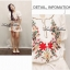 Spring Floral Vivid Embroidered Mini Dress, Korea thumbnail 8