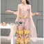 Lady Lydia Casual Feminine Butterfly Printed Set with Chiffon Maxi Outerwear L264-8501 thumbnail 3