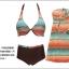 SM-V1-388 ชุดว่ายน้ำ 2 pcs สีน้ำตาลส้ม ขายพร้อมชุดคลุมสวยๆ ประยุกต์ใส่เป็นกระโปรงได้ thumbnail 13