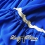 DR-LR-151 Lady Jacqueline Embroidered Chiffon Pleated Dress in Electric Blue thumbnail 9