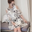 Lady Grace Graphic Embroidered Cut-Out Off-Shoulder Lace and Cotton Dress L264-7503 thumbnail 2