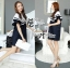 DR-LR-155 Lady Natasha Striped Dress in Navy Style thumbnail 4