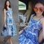 Dolce & Gabbana Italian White & Blue Printed Button-Down Dress L241-69B02 thumbnail 2