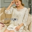 Lady Jen Feminine Laser-Cut and Embroidered Lace Dress in White L201-75C04 thumbnail 7