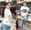 Lady Coco Camellia Denim Embroidered T-Shirt and Skinny Jeans Set L263-8904 thumbnail 3