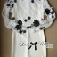 DR-LR-266 Lady Elegant Monochrome Embroidered Lace Dress thumbnail 7