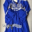 DR-LR-151 Lady Jacqueline Embroidered Chiffon Pleated Dress in Electric Blue thumbnail 11