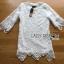 Lady Amanda Sporty Sweet Classic White Lace Dress L274-7903 thumbnail 6