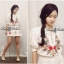 Spring Floral Vivid Embroidered Mini Dress, Korea thumbnail 5