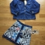 Lady Courtney Denim Jacket and Floral Graphic Printed Skirt Ensemble Set L188-75C05 thumbnail 20