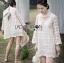 Lady Camilla Classic Feminine off- whiteLace Dress with Ribbon L249-79C03 thumbnail 8